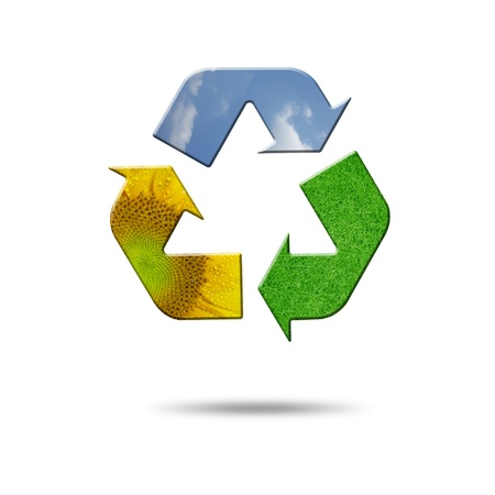 a recycle symbold on white Stock Photo - 10346542