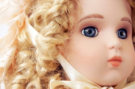 dolly: vintage doll portrait detail Stock Photo