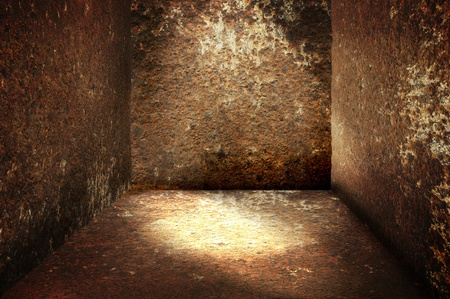 discolorations: Grunge rust room