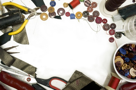Accessories for sewing necessary to tailor photo