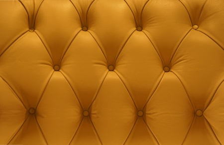 Retro yellow Leather pattern sofa                     Stock Photo - 10366947
