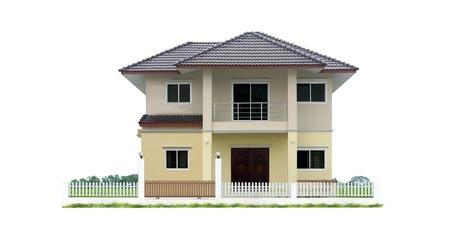 집과 흰색에 고립 된 땅