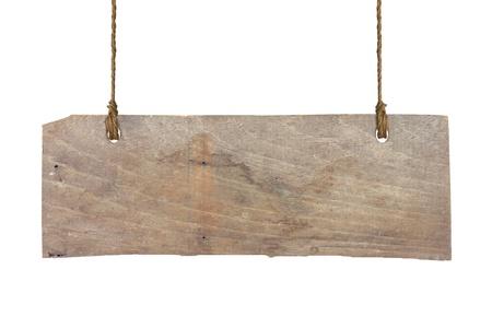 placa de madeira isolado em um fundo branco