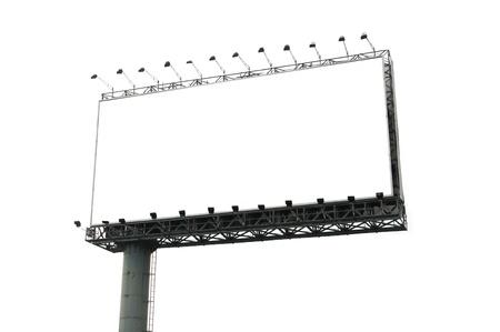 billboard posting: blank billboard isolated on white  Stock Photo