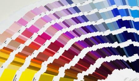 descriptive colours: Pantone sample colors catalogue background