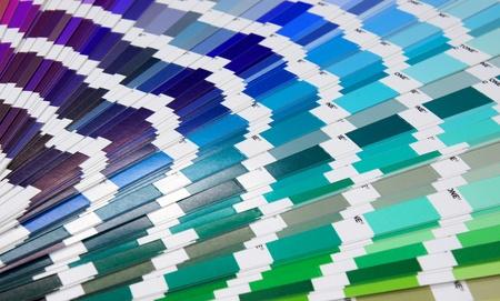 Pantone sample colors catalogue background photo
