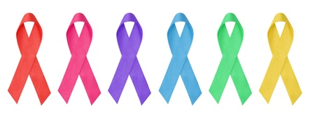 collection of awareness ribbons photo