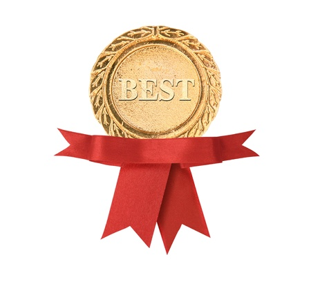 awards: best certificate with ribbon Stock Photo
