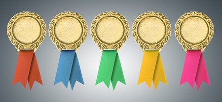 Blank certificate with ribbons photo