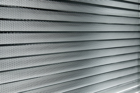 window shade:  close up, decoration with aluminum sun blinds