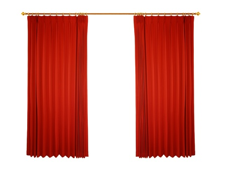velvet rope: Theater stage with red curtain (with path)