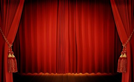 cortinas rojas: Cortina de Teatro de color rojo