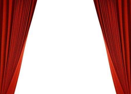 Theater Bühne mit rotem Vorhang (mit Pfad)