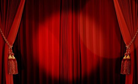 rideaux rouge: Rideau de th��tre de couleur rouge Banque d'images