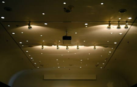 Modern ceiling plenty of lights  Stock Photo - 11540371