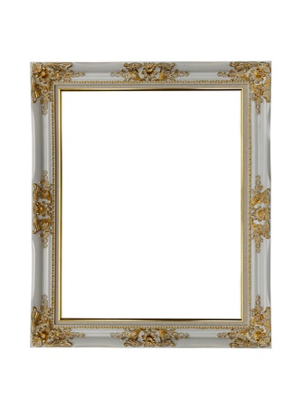 golden frame isolated on white (clipping paths included)  Stock Photo - 11540407