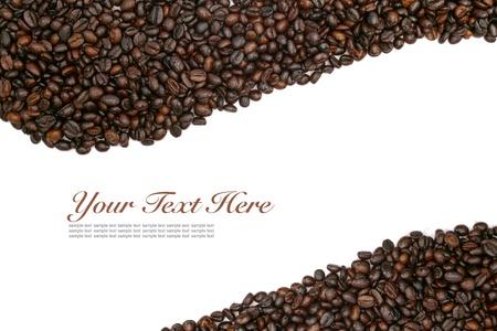 capuchino: coffee beans on white background