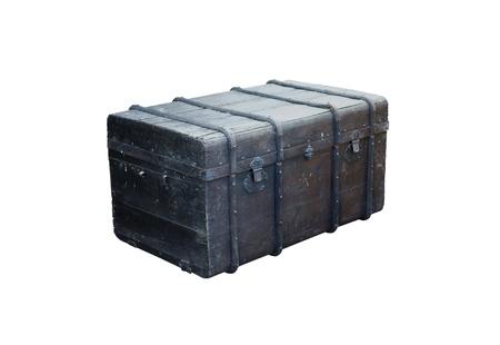 plunder: antique  box isolated on white background Stock Photo
