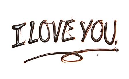 carta de amor: te quiero s�lo para usted texto compuesto de un elemento de chocolate de dise�o.