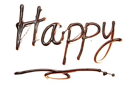 happy Just for you text made of chocolate design element. Stock Photo - 11934787