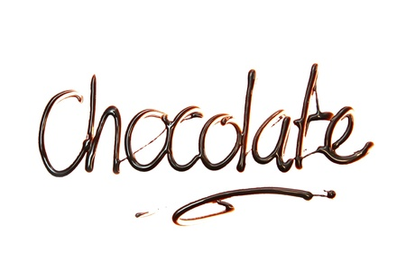 chocolate  Just for you text made of chocolate design element.  photo