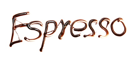 espresso Just for you text made of chocolate design element.  photo