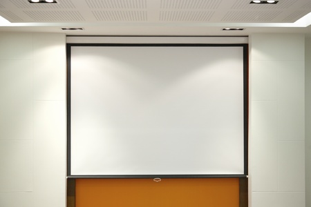 blank board Conference room and projector screen  photo