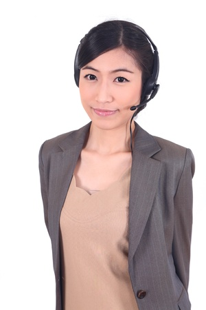 call center woman asian young smile  photo