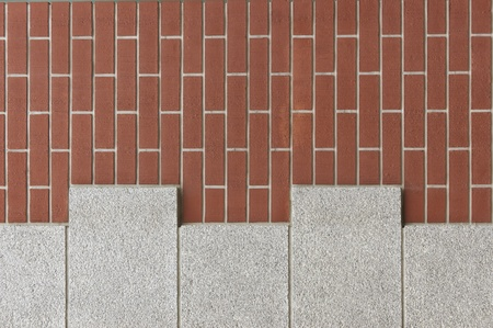 vertical brick-wall, texture background.              photo