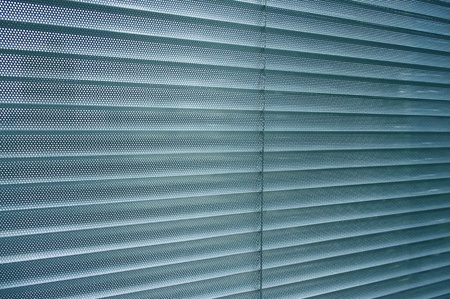 close-up modern aluminum Shutter Blinds.  photo