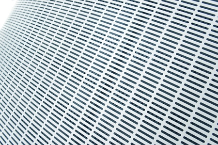 close up modern steel line background.   photo
