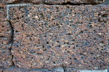 detail of Laterite stone.  photo