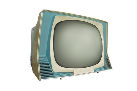 retro tv isolated on white  photo