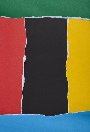 vertical dividers: colors frame Ripped paper background
