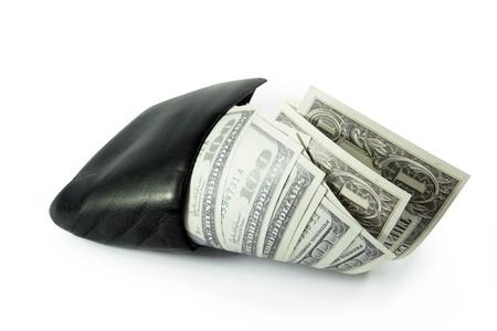 full paper money wallet rich photo