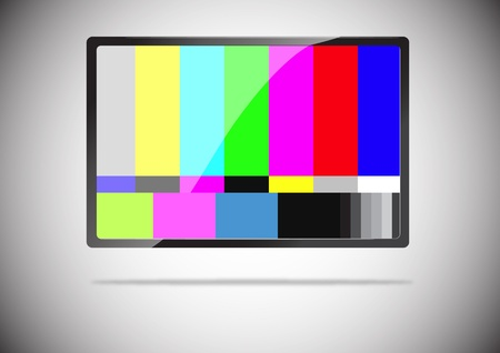 A slim tv color bar isolated Stock Photo - 13479393
