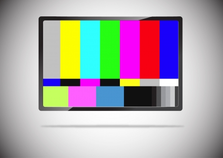 flat screen tv: slim tv color bar isolated  Stock Photo