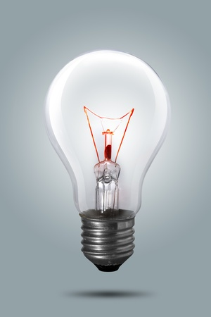 Light bulb on background  photo