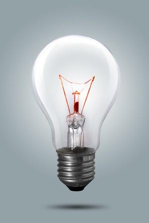 save electricity: Light bulb on background
