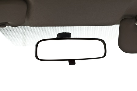 panorama view: Close up Blank Car mirror .  Stock Photo