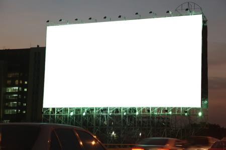 blank billboard on the night photo