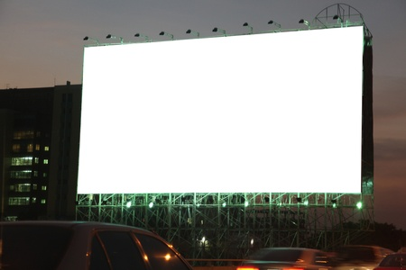 blank billboard on the night