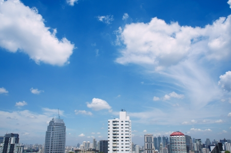 beauty cloud and sky on city view.