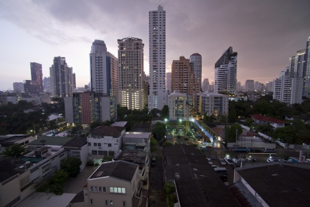 night view of Bangkok landscape, Thailand