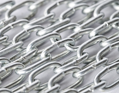 chain link: close up metal chain background
