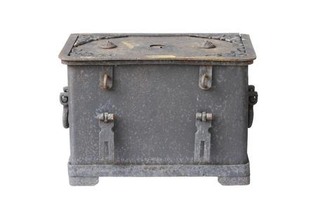 old treasure chest on white.  photo