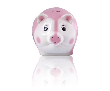 Growing Investment, Piggy Bank on a white background 