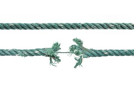 severance: Rompiendo la cuerda. Aislado en blanco.