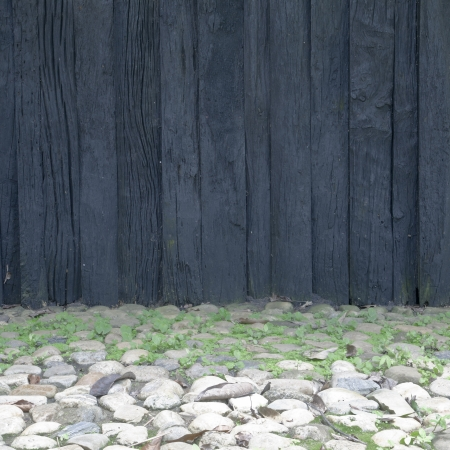 empty grunge wooden wall background  photo