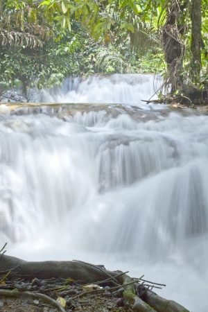 Waterfall on tropical asia forest.  photo